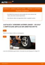Vorderer unterer Lenker selber wechseln: VW Golf 3 - Austauschanleitung