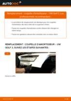 Comment changer Coupelle de suspension arrière et avant VW GOLF III (1H1) - manuel en ligne