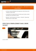 Tutoriel PDF étape par étape sur le changement de Ressort d'Amortisseur sur VW GOLF III (1H1)