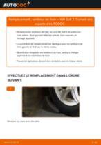 Remplacement Tambours De Frein VW GOLF : instructions pdf
