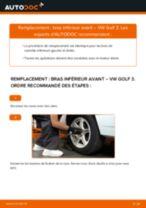 Changement Barre Stabilisatrice arrière et avant Skoda Octavia 1u5 : guide pdf