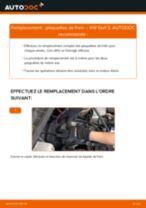 Tutoriel PDF étape par étape sur le changement de Plaquettes de Frein sur VW GOLF III (1H1)