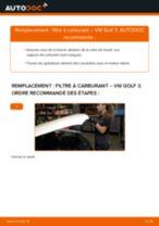 Comment changer : filtre à carburant sur VW Golf 3 diesel - Guide de remplacement