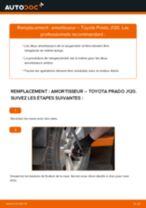 Comment changer : amortisseur arrière sur Toyota Prado J120 - Guide de remplacement