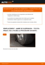 Comment changer : jambe de suspension avant sur Toyota Prado J120 - Guide de remplacement