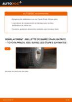 Comment changer : biellette de barre stabilisatrice arrière sur Toyota Prado J120 - Guide de remplacement