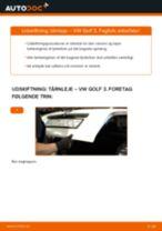 Udskift tårnleje bag - VW Golf 3   Brugeranvisning