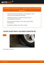 Udskift bremsetromler - VW Golf 3   Brugeranvisning