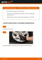 Udskift hjullejer for - VW Golf 3   Brugeranvisning