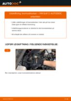Udskift bremseklodser for - VW Golf 3   Brugeranvisning