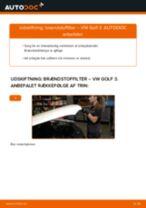 Udskift brændstoffilter - VW Golf 3 diesel   Brugeranvisning