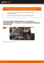Come cambiare pompa acqua & kit cinghia distribuzione su VW Golf 3 - Guida alla sostituzione
