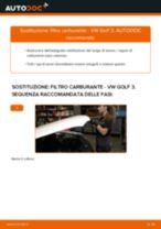 Come cambiare filtro carburante su VW Golf 3 diesel - Guida alla sostituzione