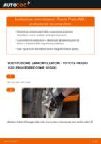 Come cambiare ammortizzatori della parte posteriore su Toyota Prado J120 - Guida alla sostituzione