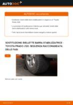 Come cambiare biellette barra stabilizzatrice della parte anteriore su Toyota Prado J120 - Guida alla sostituzione
