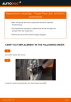 DIY TOYOTA change Coil springs front left right - online manual pdf