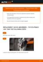 How to change rear shock absorbers on Toyota Prado J120 – replacement guide