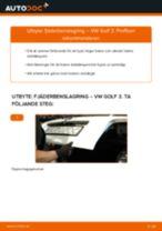 Byta fjäderbenslagring bak på VW Golf 3 – utbytesguide