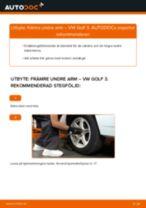 Byta främre undre arm på VW Golf 3 – utbytesguide