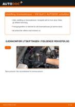 Veiledning på nettet for å skifte Bremsekloss i VW GOLF III (1H1) selv