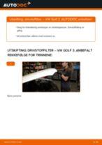 Slik bytter du drivstoffilter på en VW Golf 3 diesel – veiledning