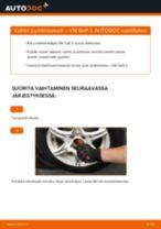 Kuinka vaihtaa pyöränlaakerit eteen VW Golf 3-autoon – vaihto-ohje