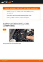 Kuinka vaihtaa jarrupalat eteen VW Golf 3-autoon – vaihto-ohje