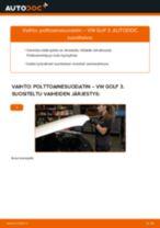Kuinka vaihtaa polttoainesuodatin VW Golf 3 diesel-autoon – vaihto-ohje