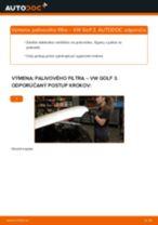 Podrobný PDF tutorial k výmene VW GOLF III (1H1) Palivový filter