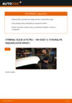 Ako vymeniť motorové oleje a filtre na VW Golf 3 – návod na výmenu