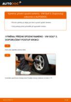 Manuál pro kutily o výměně Rameno Zavesenia Kolies v VW GOLF