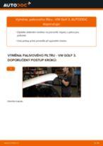 Jak vyměnit palivový filtr na VW Golf 3 diesel – návod k výměně