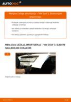Kako zamenjati avtodel ležaj amortizerja zadaj na avtu VW Golf 3 – vodnik menjave