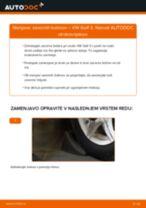 Kako zamenjati avtodel zavorni boben na avtu VW Golf 3 – vodnik menjave