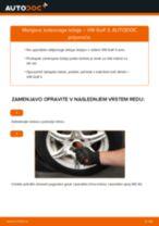 Kako zamenjati avtodel kolesni ležaji spredaj na avtu VW Golf 3 – vodnik menjave