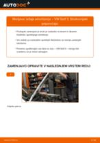 Kako zamenjati avtodel ležaj amortizerja spredaj na avtu VW Golf 3 – vodnik menjave