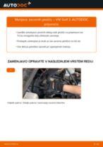 Kako zamenjati avtodel zavorne ploščice spredaj na avtu VW Golf 3 – vodnik menjave