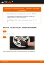 Como mudar rolamento da roda da parte dianteira em VW Golf 3 - guia de substituição