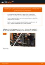 Tutorial passo a passo em PDF sobre a substituição de Cabeçotes Do Amortecedores no VW GOLF III (1H1)