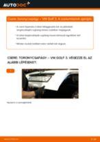 Hátsó toronycsapágy-csere VW Golf 3 gépkocsin – Útmutató