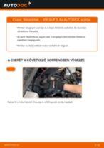 Elülső fékbetétek-csere VW Golf 3 gépkocsin – Útmutató