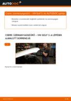 Üzemanyagszűrő-csere VW Golf 3 dízel gépkocsin – Útmutató