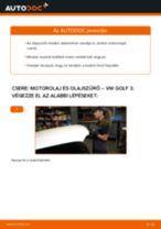 Motorolaj és szűrők-csere VW Golf 3 gépkocsin – Útmutató