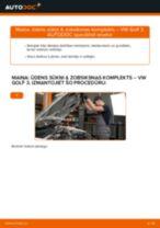 Nomaiņai Dzesēšanas Radiatori VW VW GOLF II (19E, 1G1) 1.8 - remonta instrukcijas