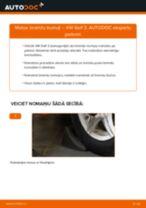 Bremžu trumulis maiņa: pdf instrukcijas VW GOLF