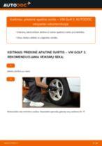 Kaip pakeisti VW Golf 3 priekinė apatinė svirtis - keitimo instrukcija