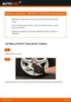 Pasidaryk pats vadovas kaip pakeisti Rato guolis VW POLO
