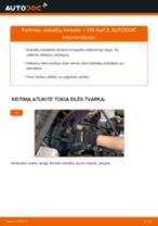 Kaip pakeisti VW Golf 3 stabdžių trinkeliu: priekis - keitimo instrukcija