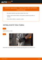 Pakeisti Įsiurbimo vamzdis, oro filtras TOYOTA LAND CRUISER: instrukcija