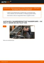 Anleitung: VW Golf 3 Zahnriemensatz mit Wasserpumpe wechseln